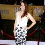 Julianne Moore white dress with black flowers 2013 SAG Awards