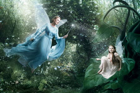 Julie Andrews Disney Blue Fairy by Annie Leibovitz