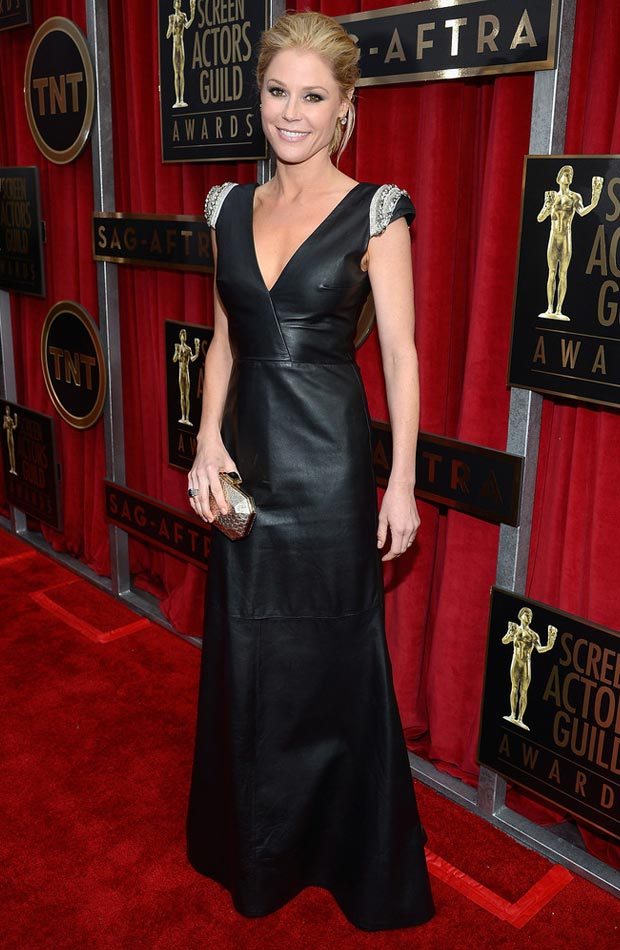 julie bowen black leather dress 2013 sag awards 2013 SAG Awards Red Carpet Highlights