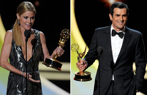 Julie Bowen Ty Burrell won at the 2011 Emmy Awards