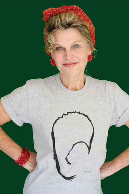 Julie Christie John Rocha Survival mask tee