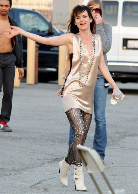 Juliette Lewis Sequined Thights