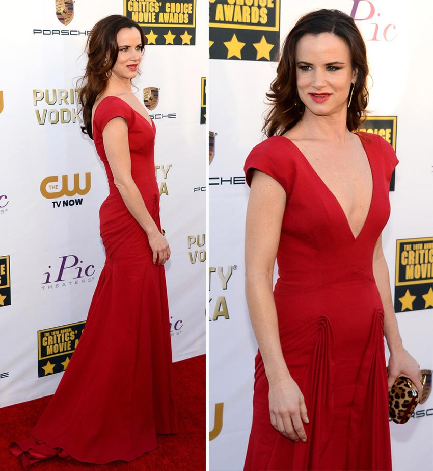 Juliette Lewis Zac Posen red dress Critics Choice Awards