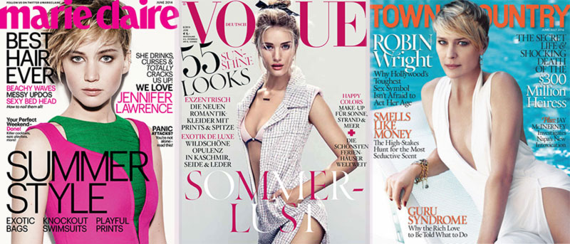 June 2014 summer fashion magazines covers