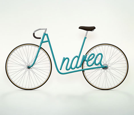 Jury Zaech Typography bicycle