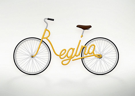 Jury Zaech Typography bike yellow