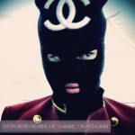 Justin Bieber hides face Chanel balaclava