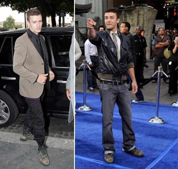 Justin Timberlake boots distressed