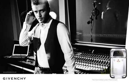 Justin Timberlake Givenchy Perfume Advertising Campaign