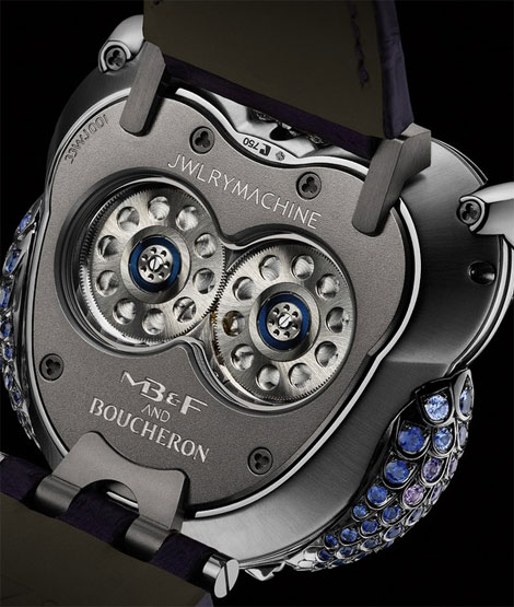 Jwlry Machine Boucheron MBF Owl watch back detail