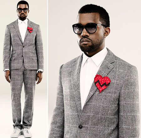 Kanye West Goes Stylish For 808′s & Heartbreak
