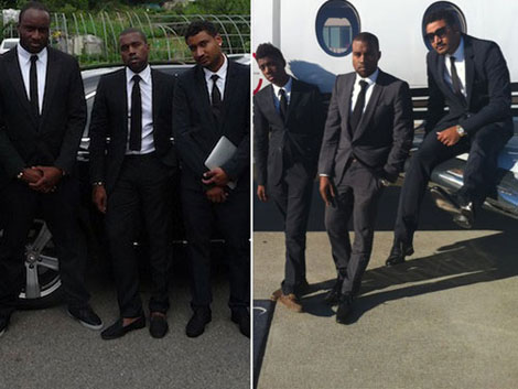 Kanye West black suits men