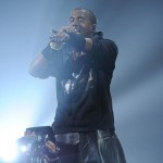 Kanye West concert leather skirt leggings