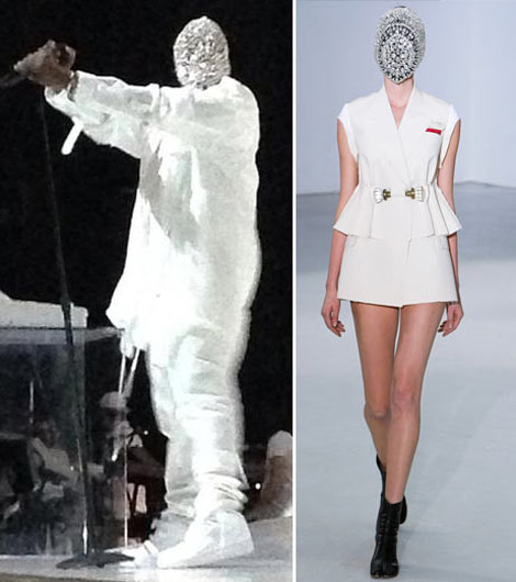 Kanye West Crystal Margiela Mask