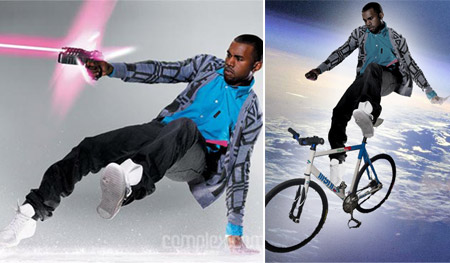 Kanye West Cycling Laser Shooting