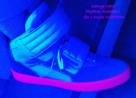 Kanye West Louis Vuitton sneakers collection high top