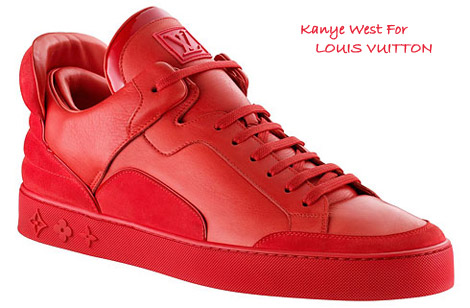 Kanye West Louis Vuitton sneakers collection red