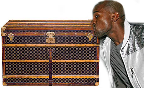 Kanye West Louis Vuitton trunk