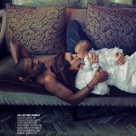 Kanye West North West Kim Kardashian Nina Ricci dress Vogue