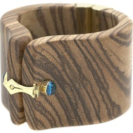 $ 6,892 Kara Ross Zebra Wood Cuff Bracelet! Wait, What?