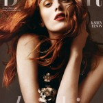 Karen Elson Harpers Bazaar UK October 2010 subs cover