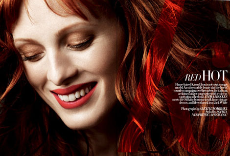 Karen Elson Harpers Bazaar UK October 2010