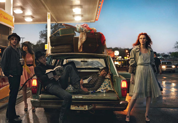 Karen Elson Jack White by Annie Leibovitz Vogue 1