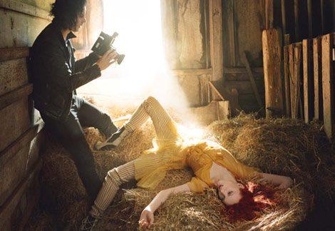 Karen Elson Jack White by Annie Leibovitz Vogue June
