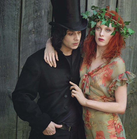 Karen Elson, Jack White By Annie Leibovitz For Vogue