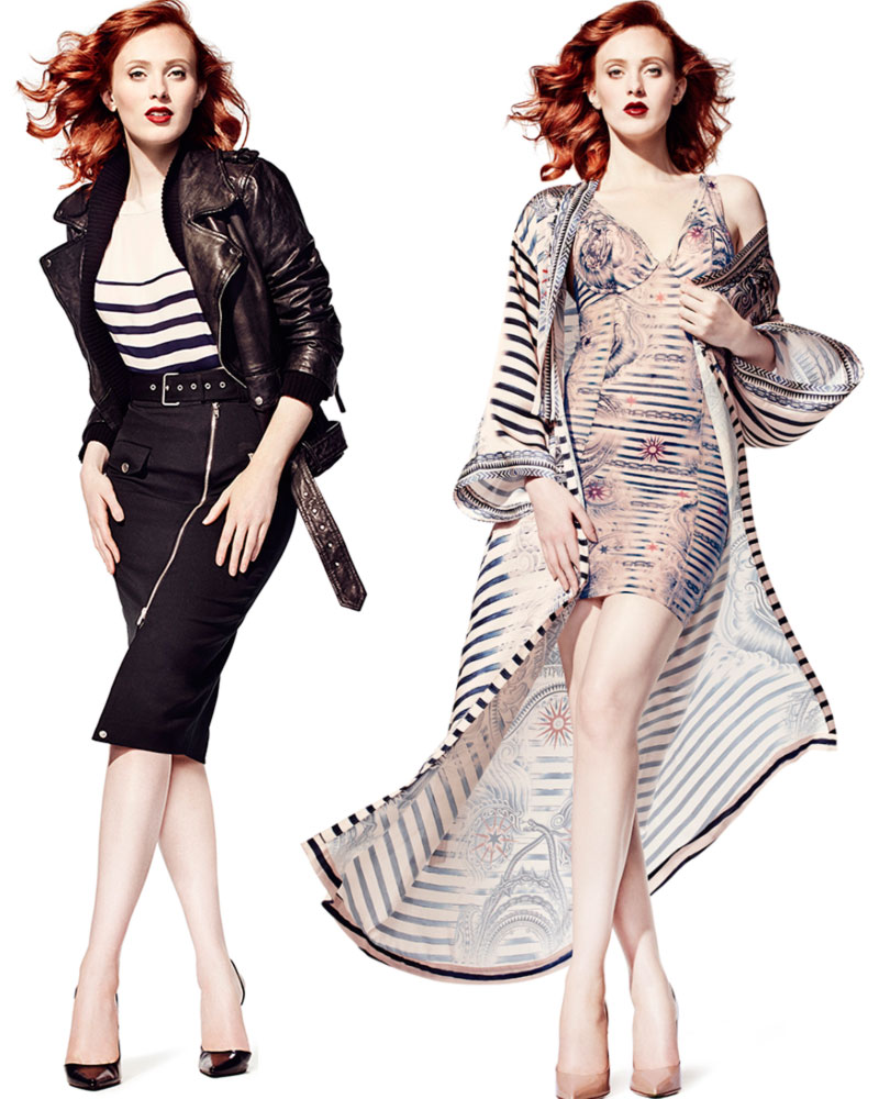 Karen Elson Jean Paul Gaultier collection for Lindex