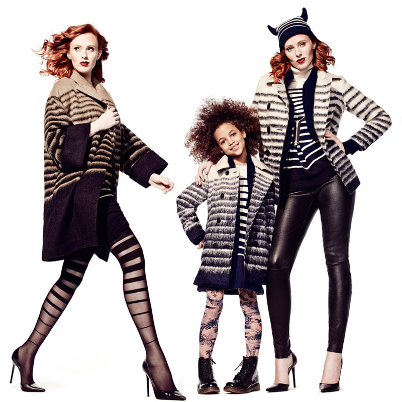 Karen Elson JPGaultier Lindex collection