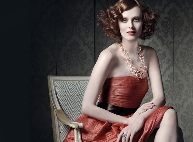 Karen Elson Tiffany Co 2013 Ad campaign