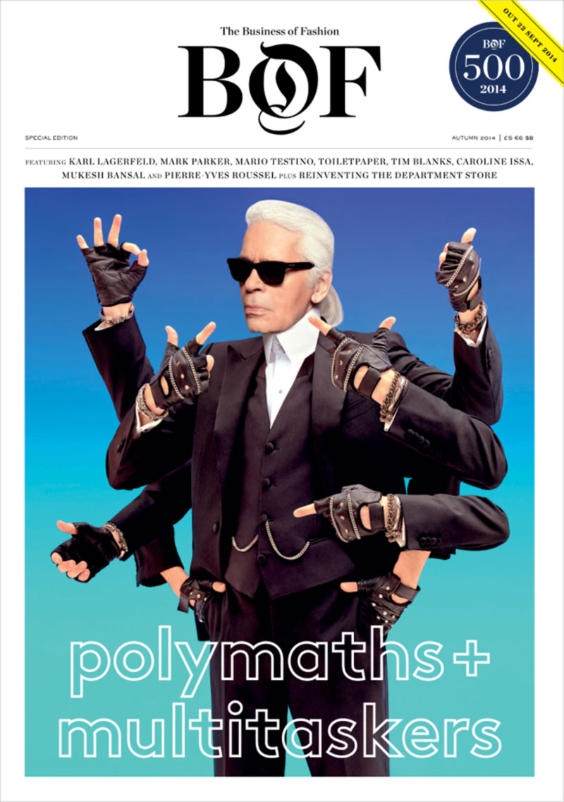 Karl Lagerfeld Business of Fashion cover by Toiletpaper