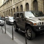 Karl Lagerfeld Hummer In Paris