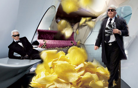 Karl Lagerfeld Thinks Mothers Are Fat, Eating Chips, Watching TV