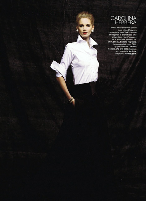 Lagerfeld's Designer Double Take From Harper's Bazaar March 2010