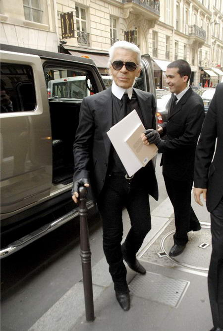 Karl Lagerfeld In Paris
