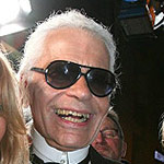 Karl Lagerfeld Laughing