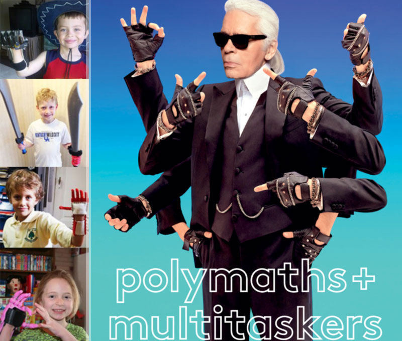 Karl Lagerfeld multihand cover BoF vs children with prosthetics