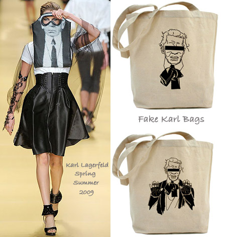 Karl Lagerfeld Spring Summer 2009 vs Fake Karl bags