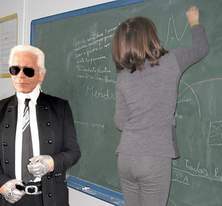 Karl Lagerfeld teaching children