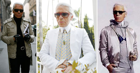 Karl Lagerfeld Vanity Fair Best dressed list