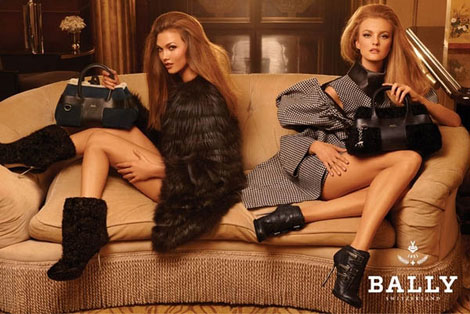 Karlie Kloss Caroline Trentini Bally Fall Winter 2011 2012 ad campaign