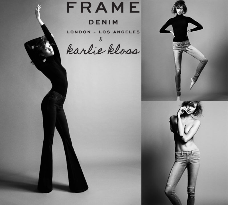 Karlie Kloss frame denim tall women
