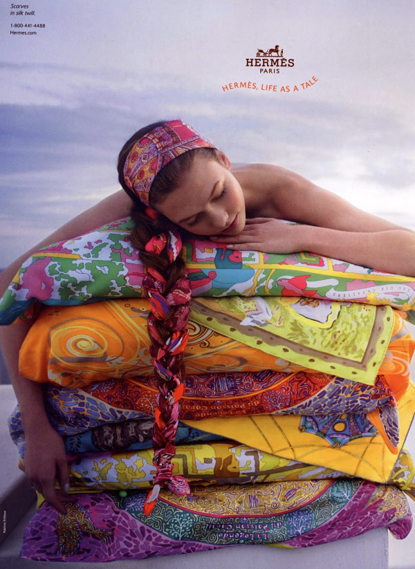 Karlie Kloss For Hermes Spring Summer 2010 Ad Campaign