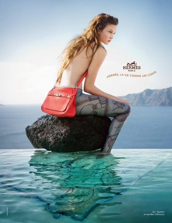 Karlie Kloss Hermes Summer 2010 campaign mermaid large