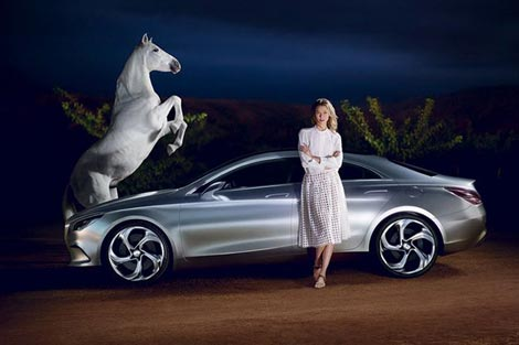 Karlie Kloss, Mercedes Benz And A Horse!