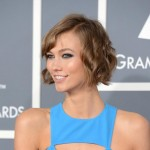 Karlie Kloss Red Carpet hairstyle 2013 Grammy
