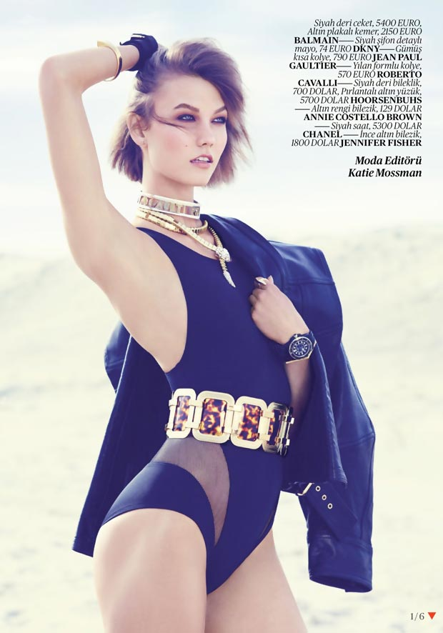 Karlie Kloss swimsuit Vogue Turkey
