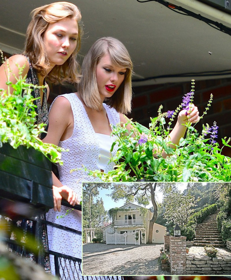 Karlie Kloss Taylor Swift plant garden together